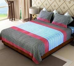 Flat 45% Discount on  100% Cotton Double Bedsheet