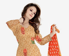 Up to 75% discount on cotton dress materiel for women