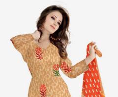 Women Dress Materials -Up to 77% discount on Churidar Materials